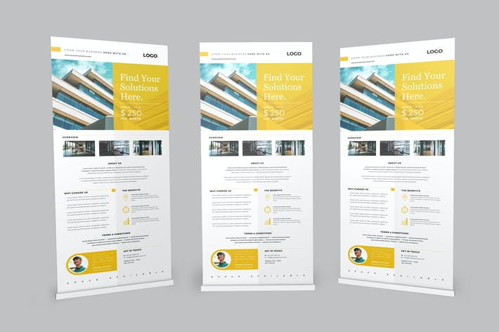 Thumbnail for Roll up Banner Properties