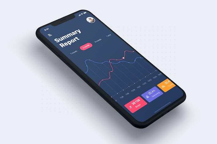 Dashboard Analysis screen concept for SKETCH