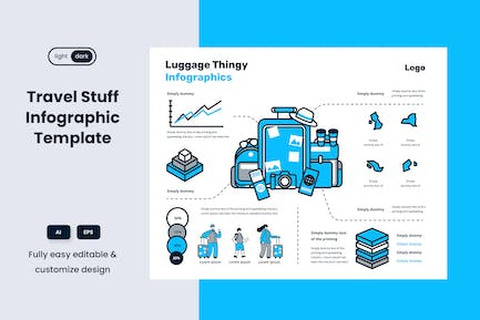Travel Tips Infographic Template: Luggage