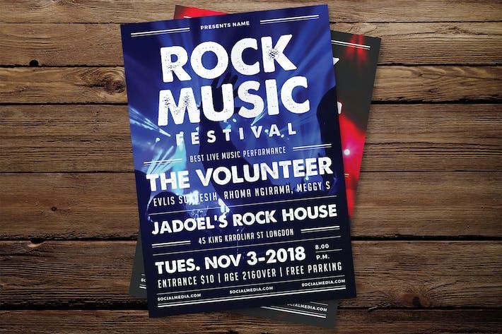 Thumbnail for Rock Festival Flyer