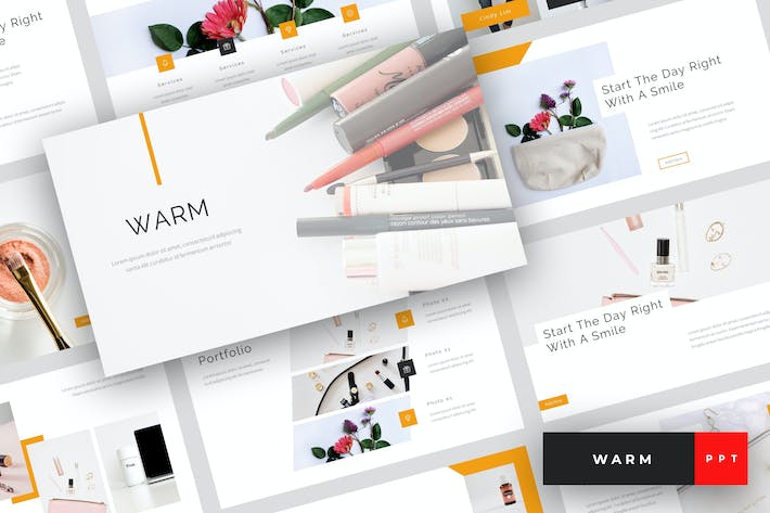 Thumbnail for Warm - Beauty & Cosmetics PowerPoint Template