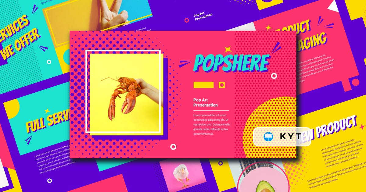 Download POPSPHERE - Pop Art Keynote Template by inipagi