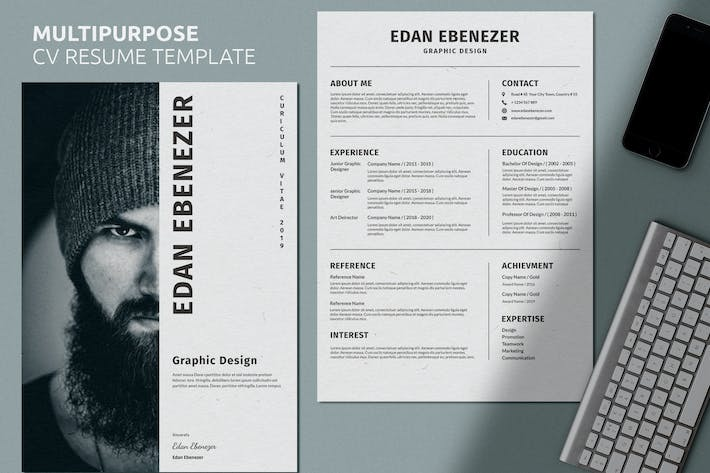Cover Image For CV Clean Resume Vol 30