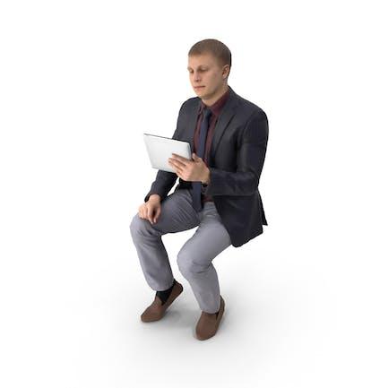 Hombre de negocios con Tablet