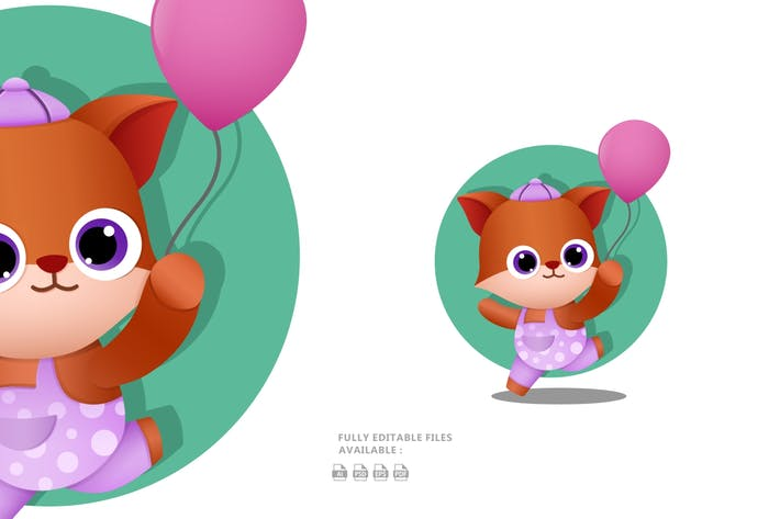 Thumbnail for Cute Fox Illustration