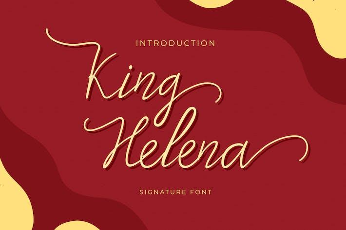 Thumbnail for King Helena Script - Fuente monolina manuscrita