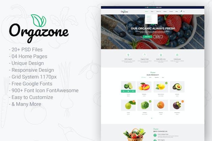 Thumbnail for Orgazone   Responsive Organic Store & Farm