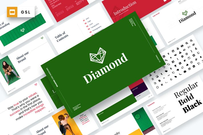Diamond - Brand Guidelines Google Slides Template