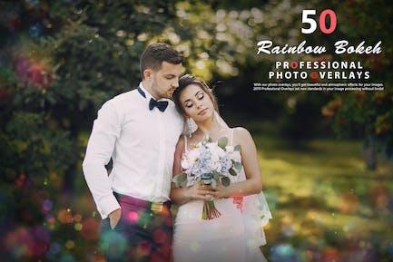 50 Rainbow Bokeh Photo Overlays