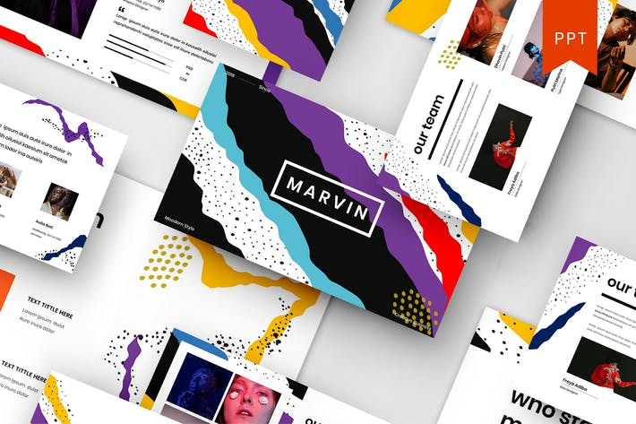 Thumbnail for Marvin — Творческий бизнес PowerPoint шаблон