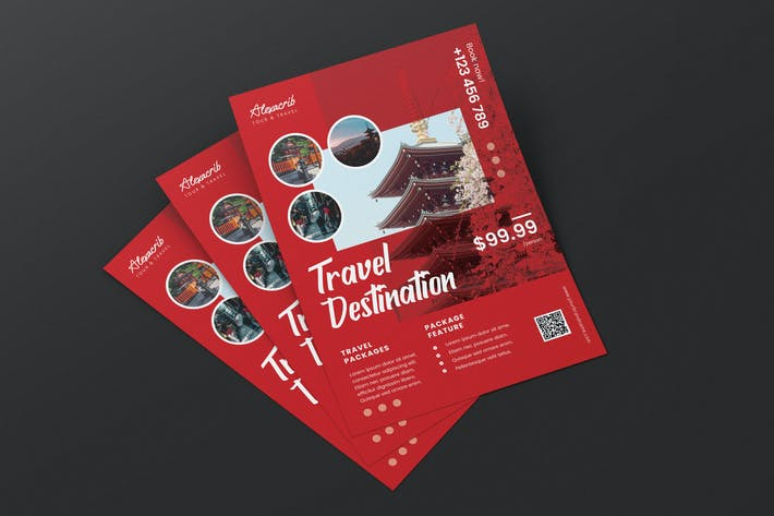 Thumbnail for Travel to Japan Vacation AI and PSD Flyer