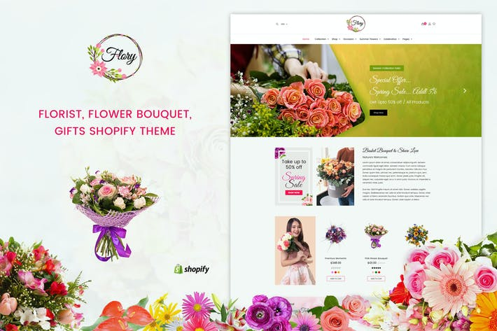 Thumbnail for Flory | Florist, Flower Bouquet, Shopify Theme