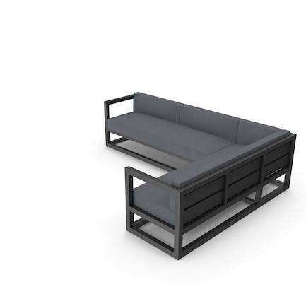 Sofá de esquina al aire libre