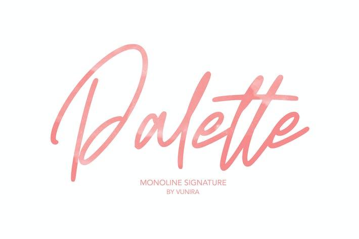 Thumbnail for Paleta   Monoline Signature Font