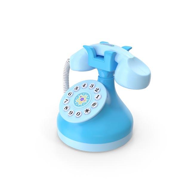 Детский музыкальный телефон синий