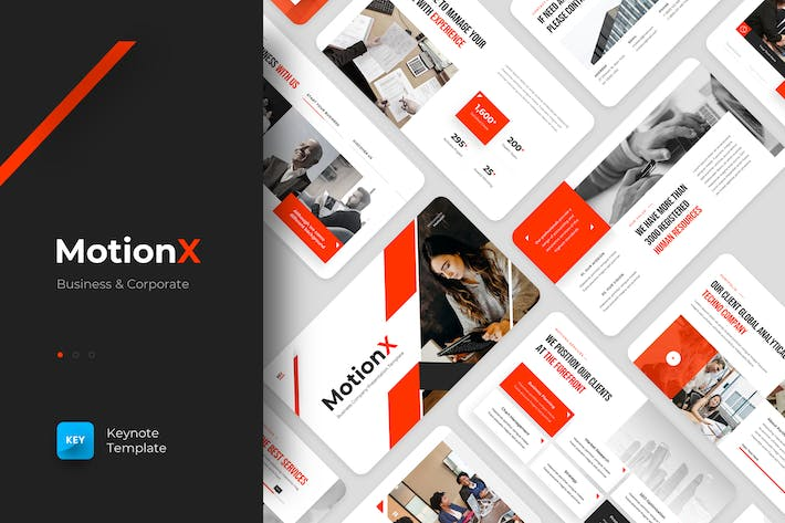 Thumbnail for MotionX - Business Keynote Template