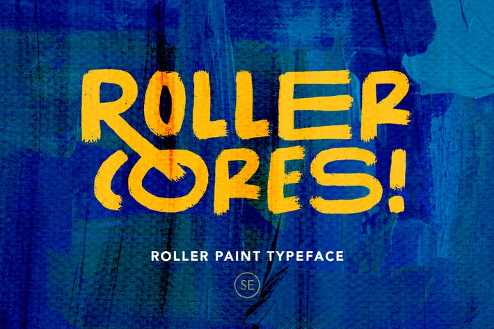 Cover Image For Roller Cores - Roller Paint Typeface