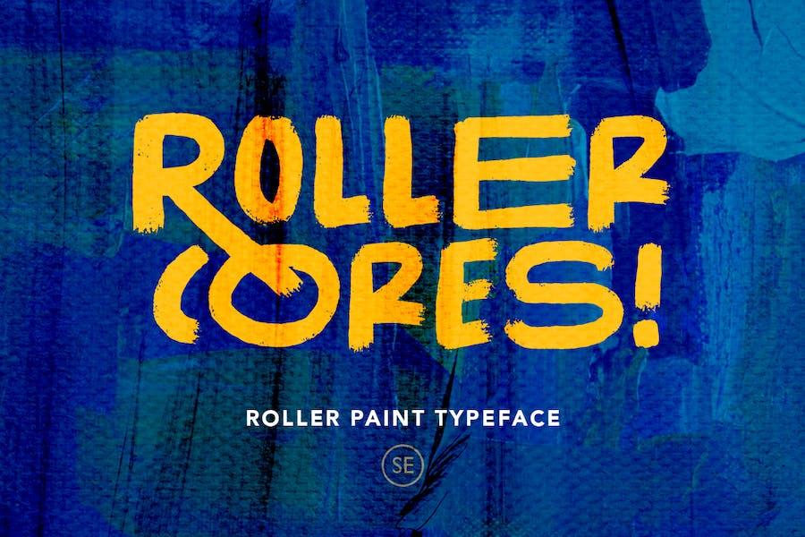 Roller Cores - Roller Paint Typeface
