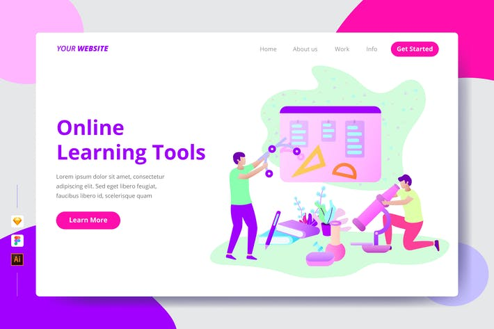 Online Learning Tools - Landing Page