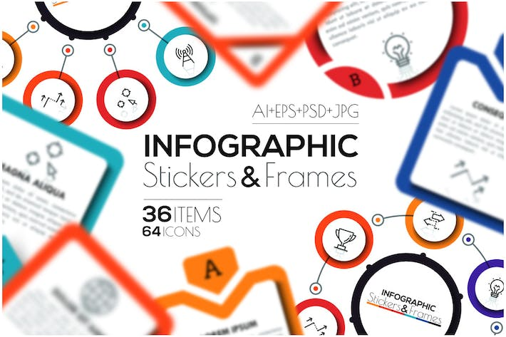 Thumbnail for Infographic Stickers & Frames