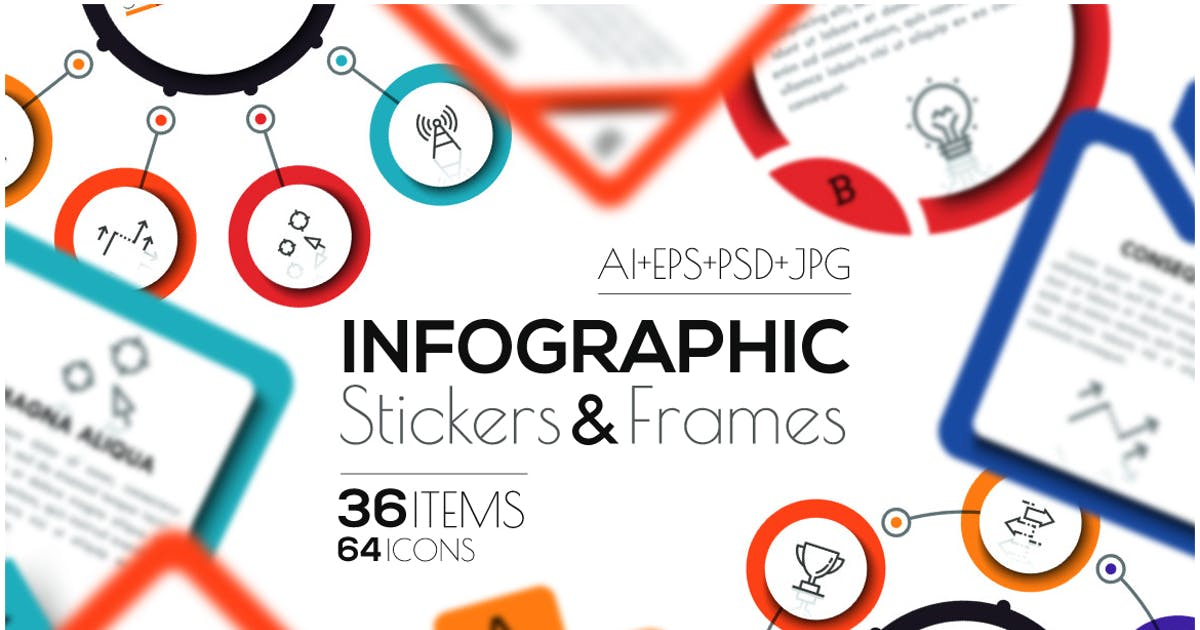 Download Infographic Stickers & Frames by Andrew_Kras