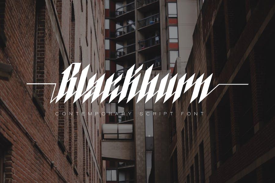 Blackburn - Fuente moderna de letra negra