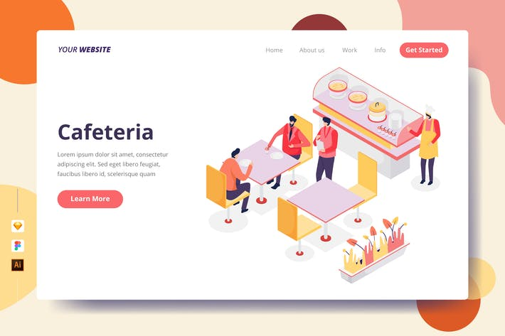 Thumbnail for Cafeteria - Landing Page