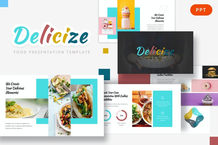 Thumbnail for Делицизировать - Food Powerpoint Шаблон