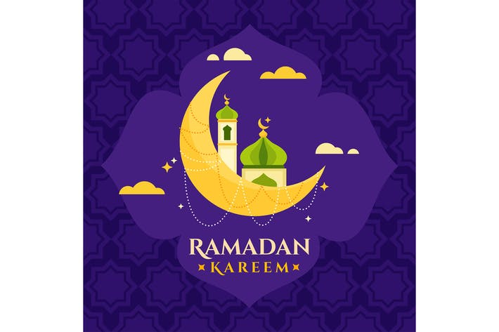 Thumbnail for Flat Ramadan Kareem Moon 02