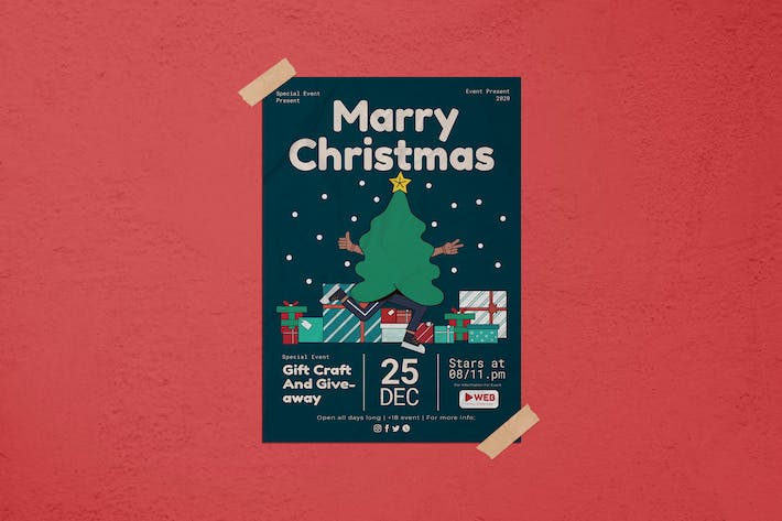 Thumbnail for Marry Christmas Flyer