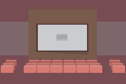 Kino - Illustration Hintergrund