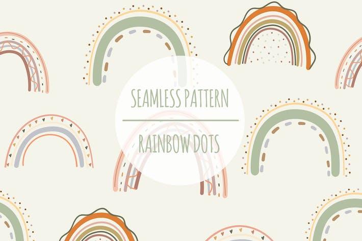 Rainbow Dots — Nahtloses Muster