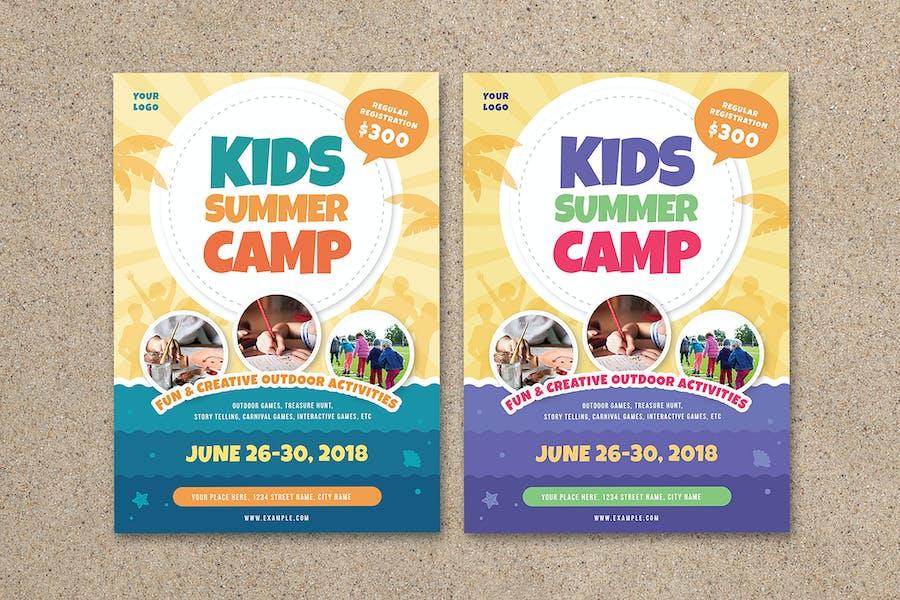 Camp d'été pour enfants dépliant 03