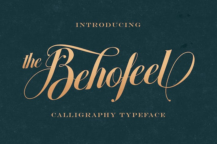 Thumbnail for Behofeel Decorative Script