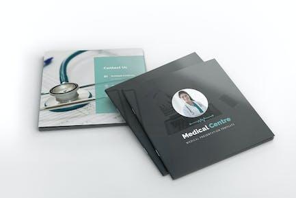 Medical Center Square Brochure Template