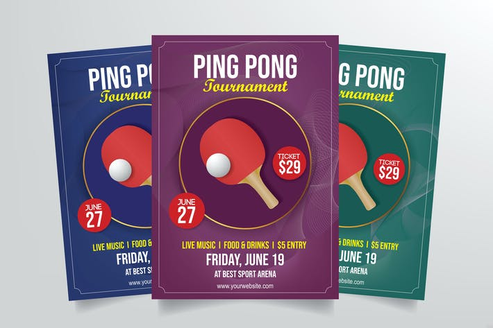 Thumbnail for Ping Pong Tournament Flyer Template
