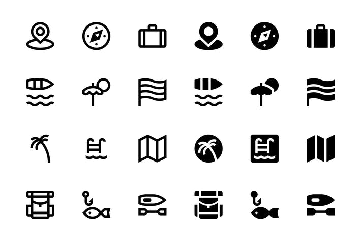 Thumbnail for 32 Travel icons
