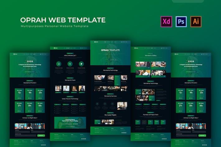 Thumbnail for Oprah | PSD Web Template