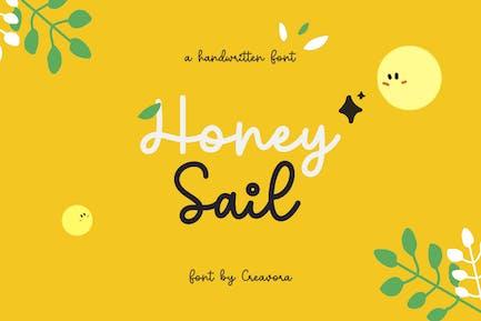 Honeysail -  Monoline Cute Script Font