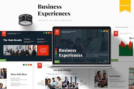 Бизнес-опыт | Шаблон Google Slides