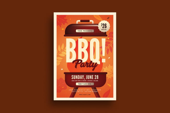 Thumbnail for Autumn BBQ Party Flyer