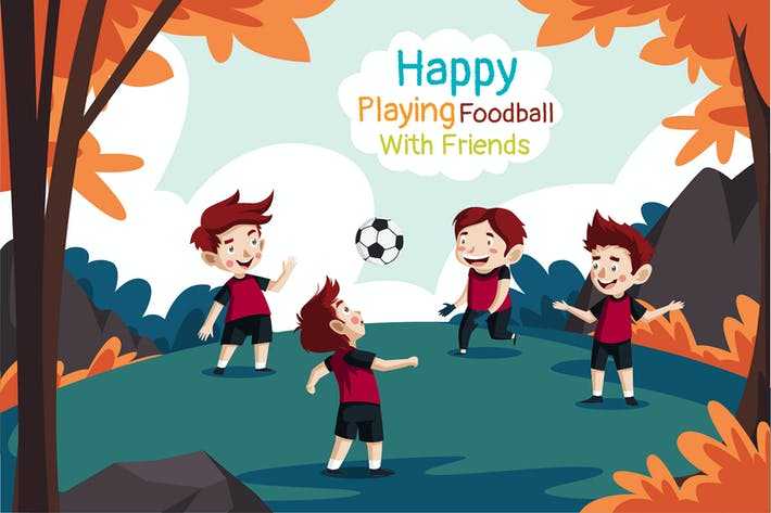 Football With Friends - Illustration