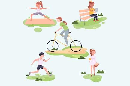 Illustration für Outdoor-Aktivitäten