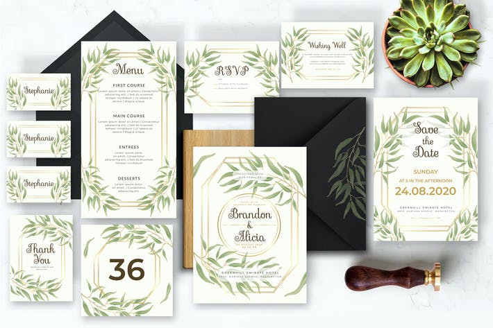 Thumbnail for Light Floral - Wedding Invitation
