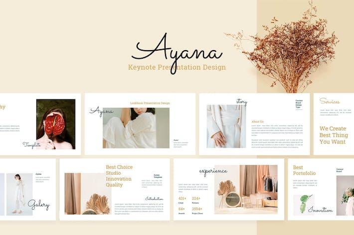 Thumbnail for Ayana - Шаблон презентации Keynote докладов