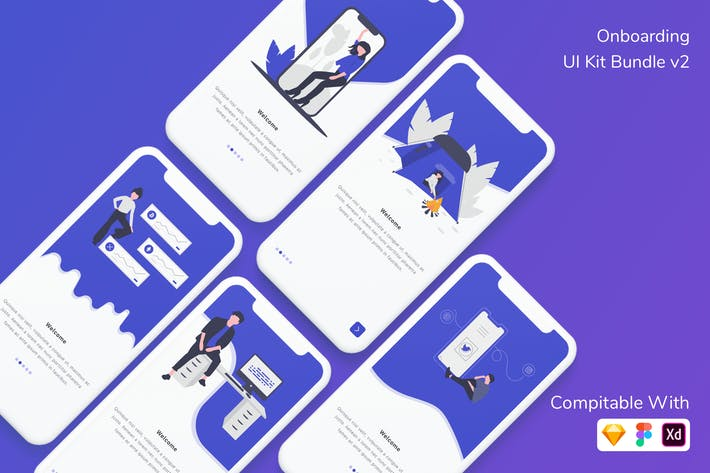 Thumbnail for Onboarding UI Kit Bundle v2