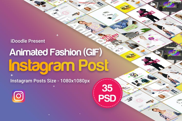 Thumbnail for Fashion Instagram Animated Posts