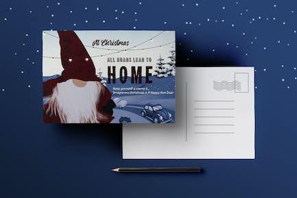 Homecoming Christmas Postcard