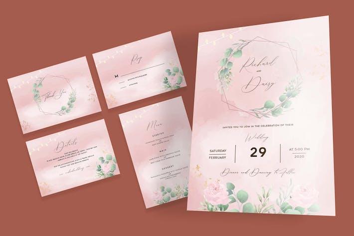 Thumbnail for Rose Garden Botanical Wedding Invitation Set