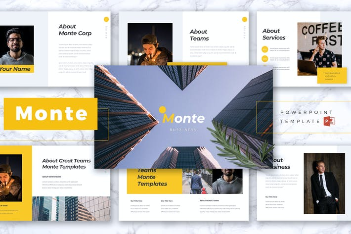 Cover Image For MONTE Business Powerpoint Template